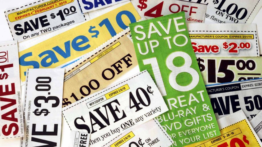 picture of coupons in a pile
