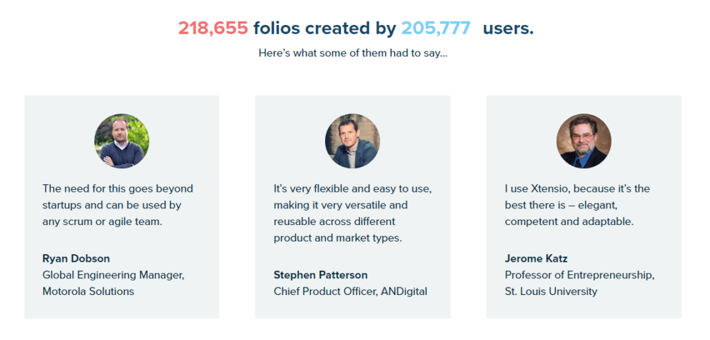 Users about Xtensio